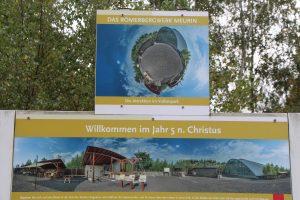 Willkommensplakat am Eingang des Römerbergwerks