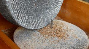 Römische Getreidemühle im Römerbergwerk Meurin, Foto: Angelika Albrecht
